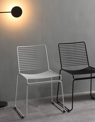China stacking modern wire steel hay hee dining chair