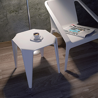 China garden outdoor plastic stacking coffee end table yatta