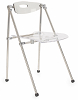 China telescope plastic acrylic folding chair