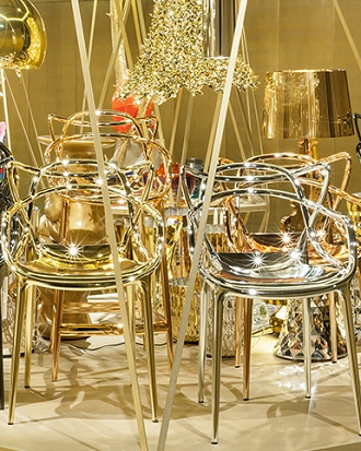 china replica kartell gold masters chair