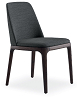 China modern design furniture leather grace dining chair