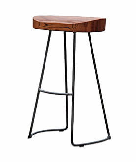 China vintage classic wood metal bar stool