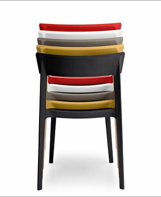 China replica italy modern design plastic stackable skin chair