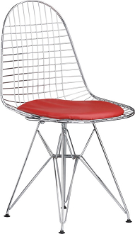 china replica vitra eames dsr wire chair chrome steel