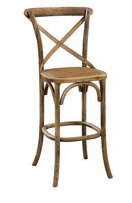 China Antique Banquet Cross Back Bar Stool Chair