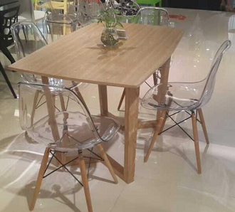 china vitra ghost clear eames dsw chair