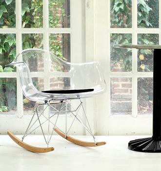 china replica vitra clear ghost eames rar rocking chair