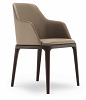 China modern design leather grace dining chair