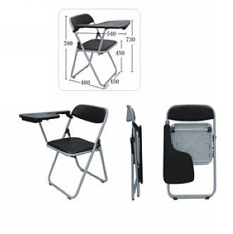 China easy plastic pad office meeting writing chair folding