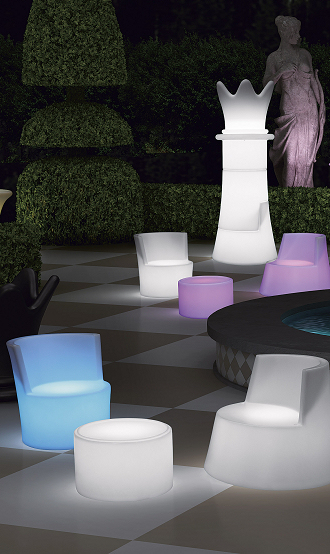 china led lighting illuminated glowing chair