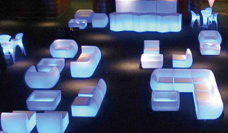 china led lighting glowing illuminated outdoor coffee table