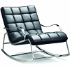 china modern design chrome steel rocking chair