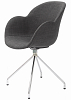 China modern design plastic soft arm dining chair
