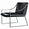 china modern design steel leather lounge chair