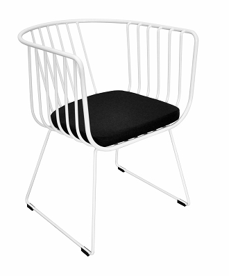 China modern steel wire armchair
