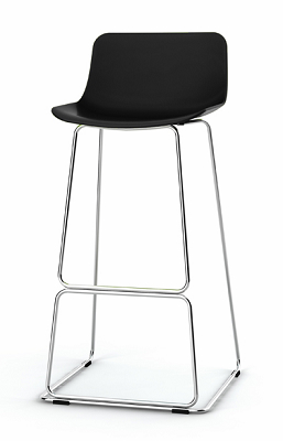 china modern design plastic steel bar stool