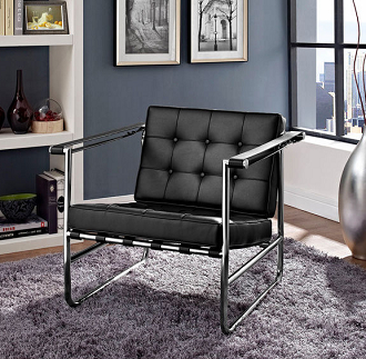 china modern design steel leather lounge lc3 chair