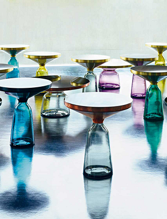 china replica modern design bell table glass side table
