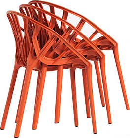 China replica outdoor stackable plastic vitra vegetal chair for Vitra chair replica