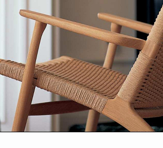 china replica middel century wood ch25 lounge chair hans wegner