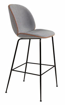 china steel plastic soft upholsered beetle bar stool chair