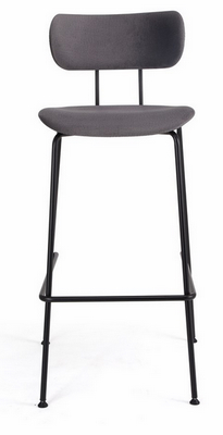 china simple steel metal soft bar stool chair