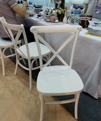 china resin plastic stackable cross back chair dining