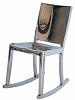 China Replica Steel Chrome Emeco Hudson Rocking Chair