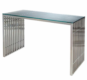 china chrome steel amici console table