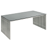 china steel chrome amici dining table