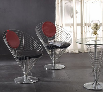 China verner panton wire cone wire chair