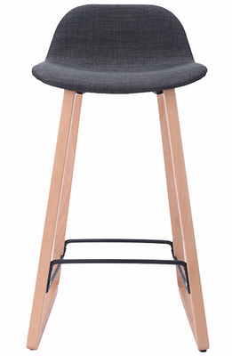 chine wood upholstered soft pad bar chair stool